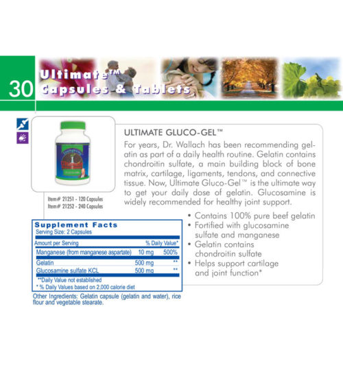 Ultimate Gluco-Gel Supplemental Facts