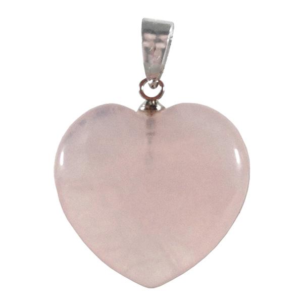 Gemstone heart pendant rose quartz canada beyondhealthy cdn 1149 aloadofball Choice Image