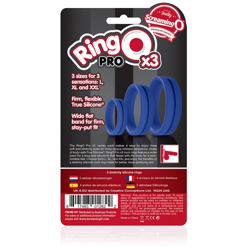 Screaming O Ringo's Penis Cock Ring Black Super Stretchy Firmer Harder Erections